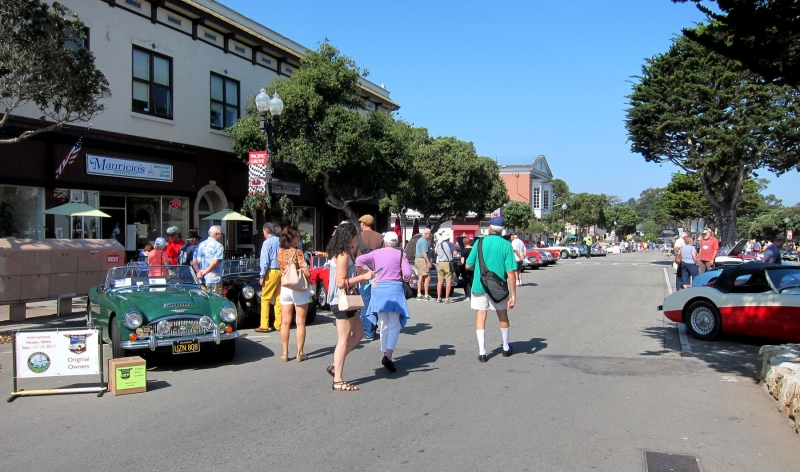Car Show on Lighthouse Ave. in Pacific Grove